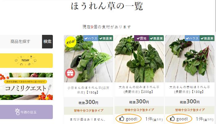 宅配野菜ココノミの無農薬野菜