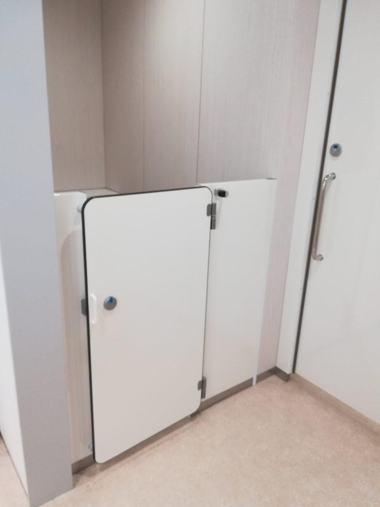 2020年ららぽーと豊洲のクロスタワーの空いているトイレ