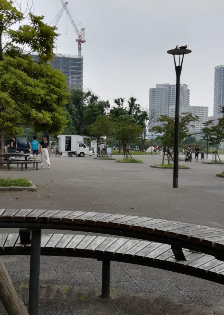 豊洲ららぽーとの外の公園