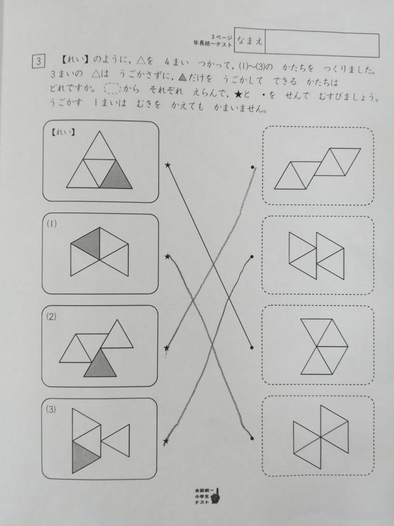 四谷大塚の全国統一小学生テスト年長向け対策講座